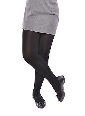 Black Plain School Opaque Tights Older Girl's 9 - 16 Years 1, 2 & 3 pack