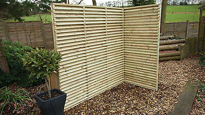 Venetian High Quality Slatted Fence Panels / Lattice Top 3ft Tall & 6ft Tall