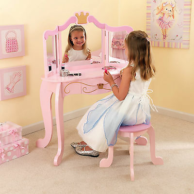 Kidkraft Pink Princess Dressing Table Kids Dressing Table Stool Girls Furniture