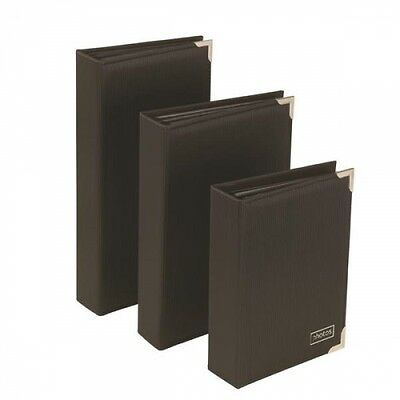 Kenro Slip In Photo Albums Black Silver Front Gilded Edge - Select Size