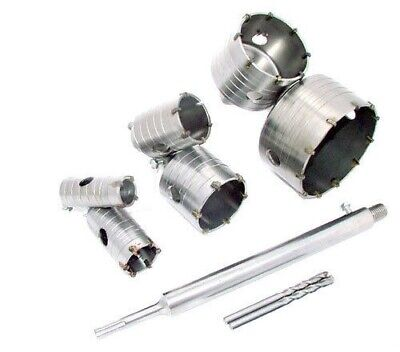 TCT CORE DRILL SET c/w 300mm SDS+ EXTENSION SHANK TUNGSTEN MASONRY HOLE CUTTERS