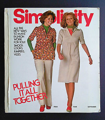 1975 SIMPLICITY Store Counter Pattern Book Fashion Catalog September Vintage