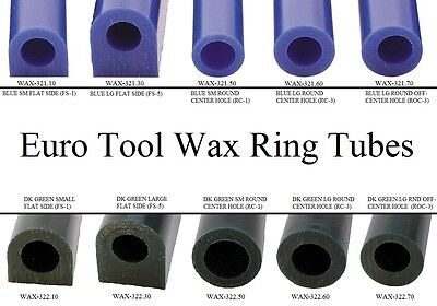 Jewelers Carving Wax Ring Tube Jewelry Molds Round Center Flat Top Off Center
