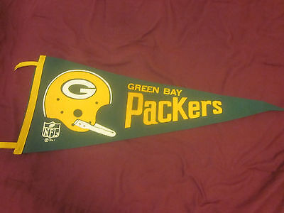 1967 NFL Football Felt Pennant Green Bay Packers 29 Inches
