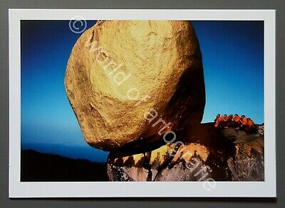 Hiroji Kubota Ltd. Photo 24x17 Swhe Pyi Daw Felsen Rock Myanmar 1978 Buddhismus