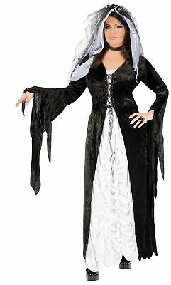 GOTHIC BRIDE OF Darkness Goth Dress Wedding Veil Adult Womens Plus Size  Costume