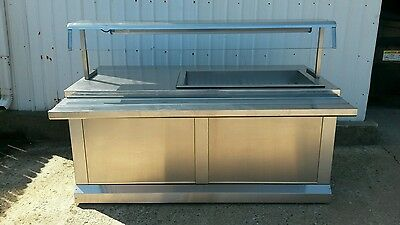 Mod-U-Serve Stainless Refrigerated Cold Food Buffet Salad Bar Serving Cart Table