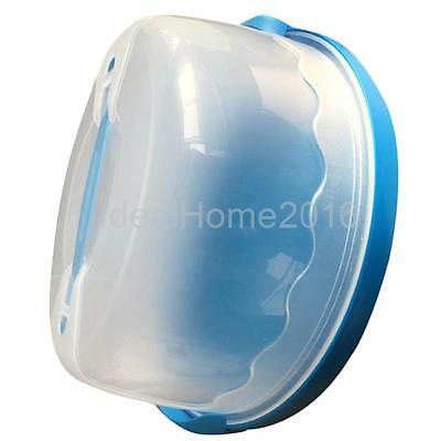 Portable Cake Cupcake Dessert Bake Box Case Carrier Storage Container Blue