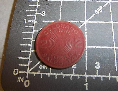 Vintage Colorado retail State Sales Tax Token Coin 2 Mill no number in middle