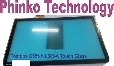"""15.6"""" Touch Screen Digitizer front Glass TouchPanel for TOSHIBA C55t-A L50t-A"""