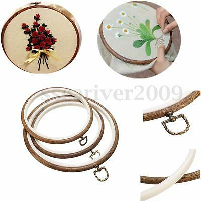 Round Oval Cross Stitch Embroidery Hoop Ring DIY Hand Crafts Sewing Tool