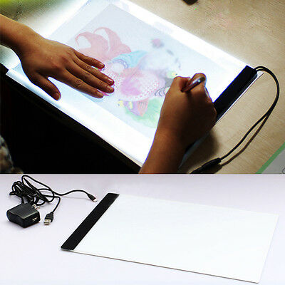 1 A4 LED Artist Thin Art Stencil Board Light Tracing Box Drawing Board Plate Set