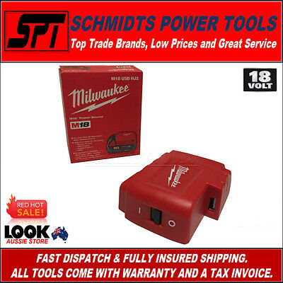 Milwaukee M18 18V Power Source Cordless Usb Charger 18 Volt M18Usbhj2