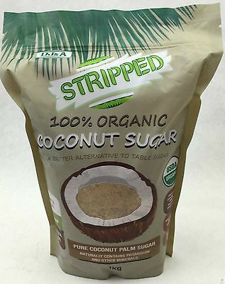 NEW 1kg ORGANIC COCONUT PALM SUGAR Certified Organic Vegan Gluten Free Fresh
