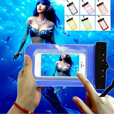 Waterproof Underwater Case Cover Bag Dry Pouch With lanyard For Mobile Phones