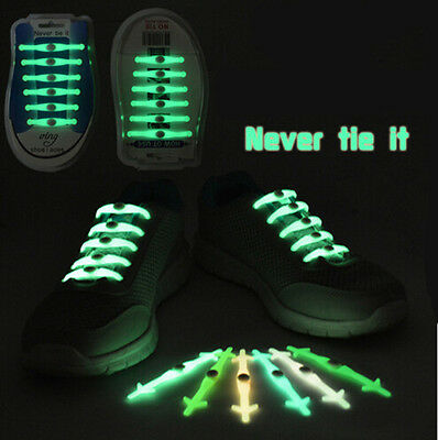 Easy No Tie Shoelaces Elastic Silicone Set 12Pcs Cool for Kids Adults Shoe Lace