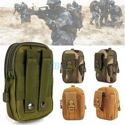Outdoor Sports Tactical Military Pouch Belt Hip Waist Packs Bag Packet For Phone