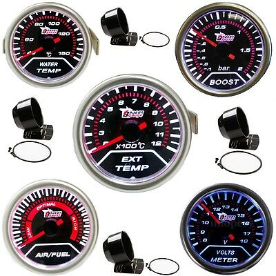 Car Turbine Boost Exhaust Thermometer Water Voltage Oil Pressure Air-fuel Gauge
