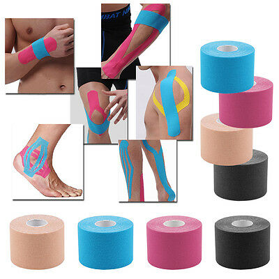4 Rolls Kinesiology Tape Sports Physio Muscle Strain Injury Support UK Seller