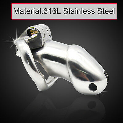 Male 316L stainless steel Luxury Honorable Chastity Device Standard Size A257