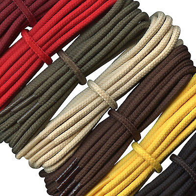 Strong Boot Laces - 4 mm round -  ideal for walking and hiking boots Dr Martens
