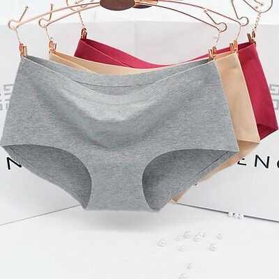Women Sexy Seamless Cotton Briefs Thongs Panties Underwear knickers Lingerie