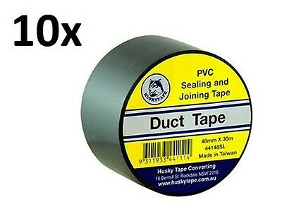 HUSKY PVC Duct Tape 48mm x 30m Great Quality SILVER/BLACK