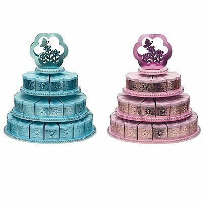 3 Tier Wedding & Party Cake Stand With 48 Luxury Cake Slice Boxes
