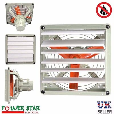 Commercial Ventilation Exhaust Extractor Fan Metal Axial Air Blower with Shutter