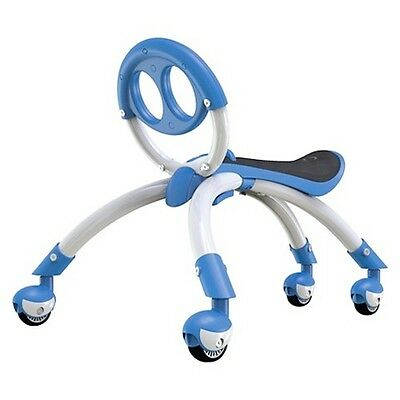 New Yvolution IPewi 2 in 1 Ride-on Baby Walker Blue Scuttle Bug Toy Age 9mths+