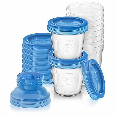 Philips Avent SCF618/10 Reusable Muttermilch Lagerung Cups (10 x 180 ml)