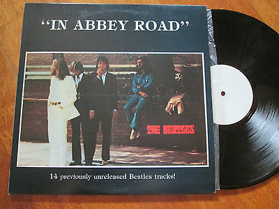 THE BEATLES In Abbey Road Previously Unreleased Tracks LP RARE PROMO UK FAN CLUB