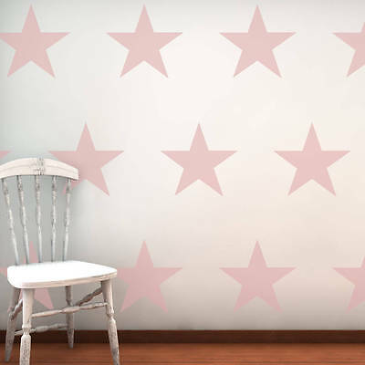 BABY PINK STARS Wall Stickers Art Kit decal graphic nursery cute 2 sizes options