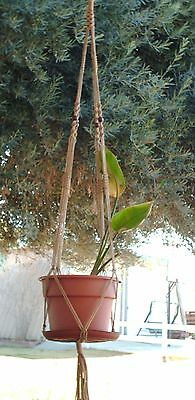 MACRAME PLANT HANGER 58in Vintage style with Beads -  CHOOSE CORD COLOR