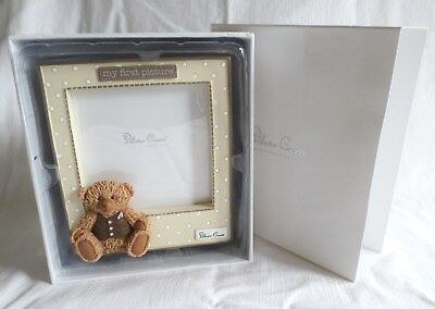 Photo Frame Silver Cross Baby's MY FIRST PICTURE with 3D George Bear 9 x 9cm