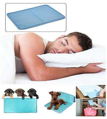 Multi Functional Cool Gel Pad Cooling Pillow Bed Mattress Topper Yoga Car Pet