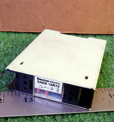 1 Used Baumer Electric Saeb 18R72 Amplifier Relay ***Make Offer***
