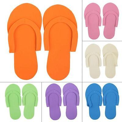 12/24/36 Pairs Disposable Thong Slippers Salon Flip Flops Pedicure Spa Use Bulk
