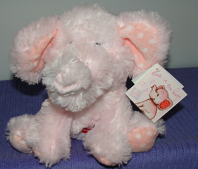 """Russ Baby Elliefumps Musical Pink Elephant 11""""  Rock A Bye Baby 35390 Nwt ~ Dh"""