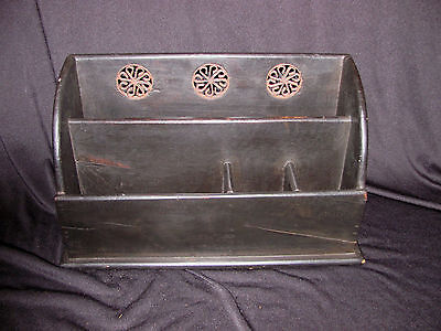 Antique English Colonial Letter and Stationary Holder 19th Century