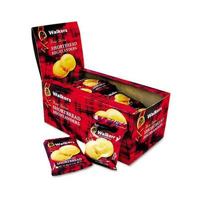 Office Snax Walker`s Shortbread Highlander Cookies 1.4 oz 2-Pack 12 Packs/Box