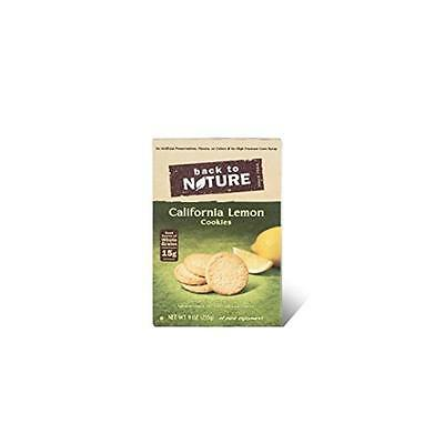 Back To Nature Cookies California Lemon 9 Ounce (Pack of 12)