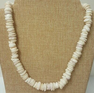 """Vintage Genuine Authentic Large Approx 1/2"""" Puka Shell Necklace, 10"""" Long"""