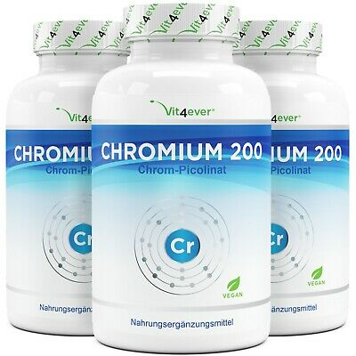 365 -1095 Tabletten Chromium 200mcg - Hochdosiert - 100% Chrom Picolinate