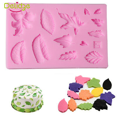 New Leaf Silicone Fondant Mold Cake Candy  Decorating Baking Chocolate Diy Mould