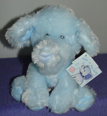 """Russ Baby Elliefumps Musical Blue Elephant 11"""" Plays Rock A Bye Baby 35391 Nwt"""