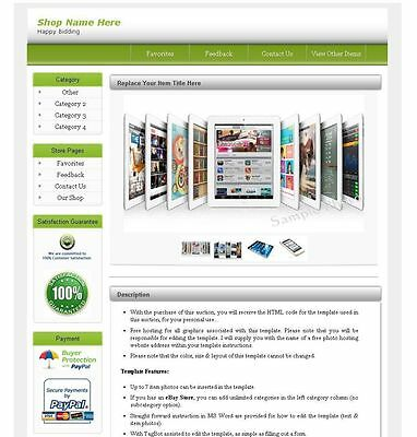 eBay HTML Auction Template Listing Seller Tool - No Active Content Version G8D