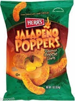 HERR'S JALAPENO POPPERS Flavored Cheese Curls 198.5g bag