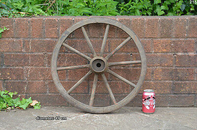 Vintage old wooden cart wagon wheel  / 49 cm FREE DELIVERY