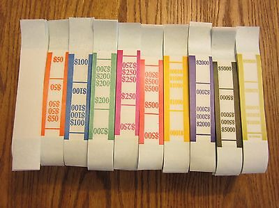 1000  Self Sealing Currency Straps  Money Bill Bands Strap Pmc Company Brand